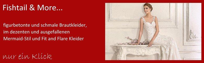Brautkleider Fit and Flare, Fishtailkleider und Brautkleider im Mermaidstil