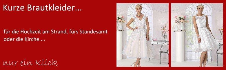 Kurze Brautkleider fürs Standesamt oder Kirche